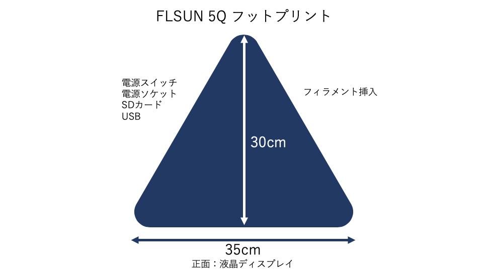 FLSUN 5Q フットプリント
